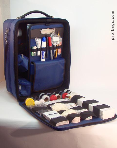 Сумка чемодан эксперта криминалиста, открытый вид