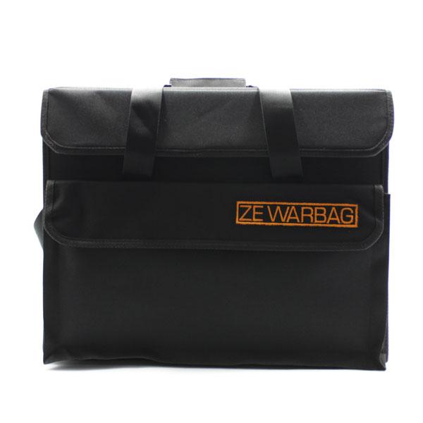 сумка кофр для переноски чёрная большая спереди